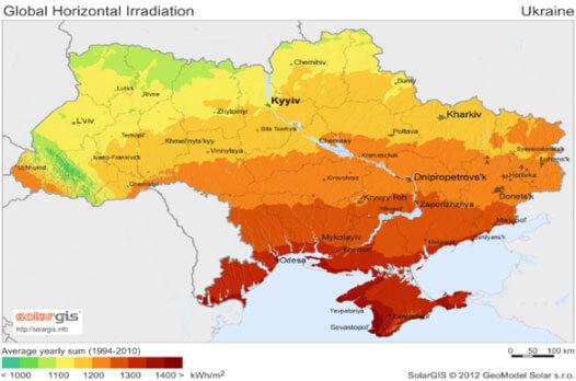 инсоляция в Украине, инвестиции в солнечную энергетику