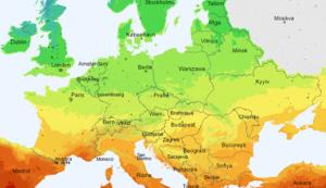 Інсоляційна карта Європи